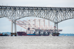 New Cranes Headed Under Chesapeake Bay Bridge for Port of Baltimore